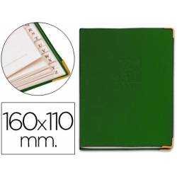 Listin telefonico 5030 tapa flexible tamaño 16x11 cm con cantonera dorada.