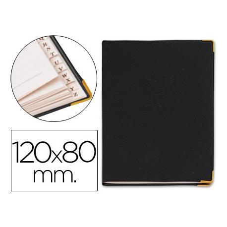 Listin telefonico 9030 tapa flexible tamaño 12x8 cm con cantonera dorada.